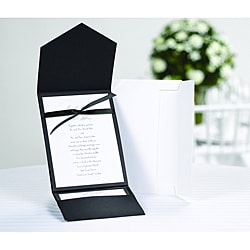 Classic Black and White Pocket Invitation Kit