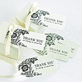 Vintage Floral Ivory Wedding Favor Cards