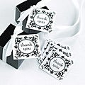 Flourish Frame White 2-inch Square Favor Cards