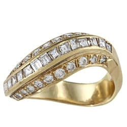 18k Yellow Gold 1 1/5ct TDW Estate Ring (I-J, SI1-SI2)