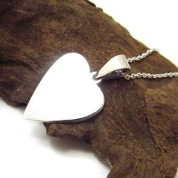 Inspirational 'Live Love Laugh' Heart .925 Silver Necklace (Thailand)