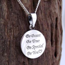 Inspiring 'Be You' .925 Sterling Silver Pendant Necklace (Thailand)