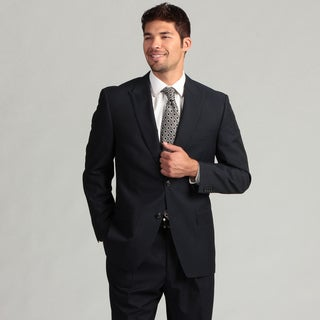 Sean John Men's 2-button Navy Striped Suit