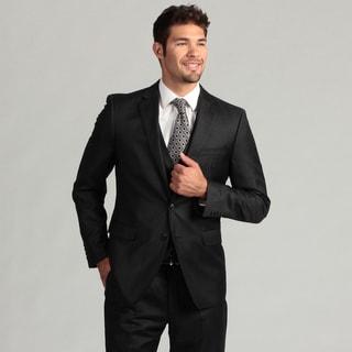 Calvin Klein Men's Charcoal 2-button Wool/Cashmere Blend Suit