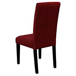 Aprilia Dark Red Upholstered Dining Chairs (Set of 2)
