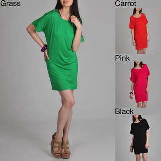 24/7 Comfort Apparel Women's Oversized T-shirt Dress