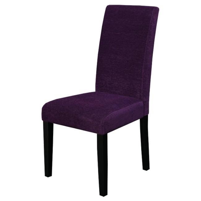 Aprilia Eggplant Upholstered Dining Chairs (Set of 2)