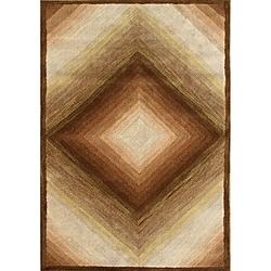 Alliyah Handmade Sand New Zealand Blend Wool Rug (8'x10')