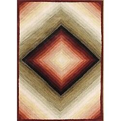 Alliyah Handmade Gray Sand Mix New Zealand Blend Wool Rug (8' x 10')