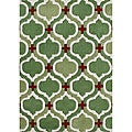 Alliyah Hand Made Tufted Stone Green New Zealand Blend Wool Rug (5' x 8')