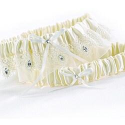 HBH Ivory Sparkling Elegance Garter Set