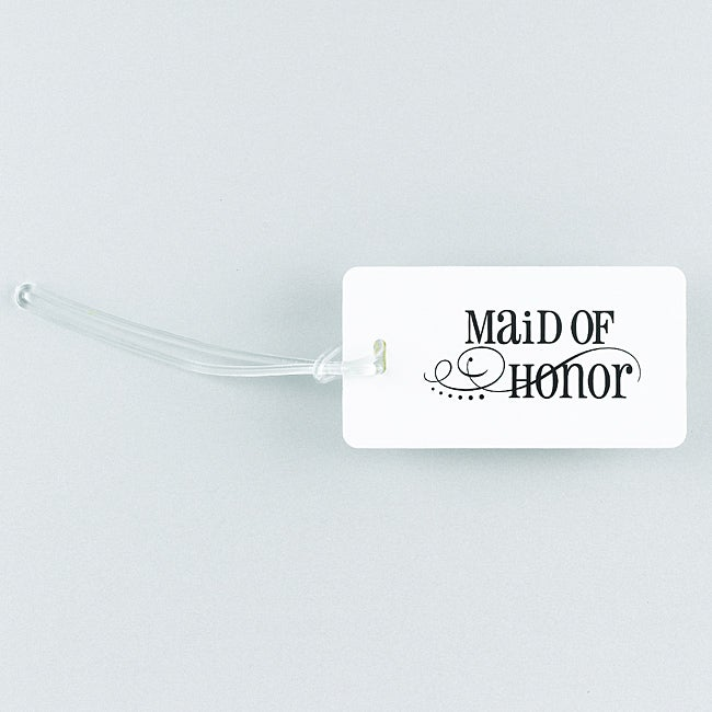 Swirl Maid of Honor Luggage Tag