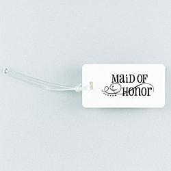 Swirl Maid of Honor Luggage Tag