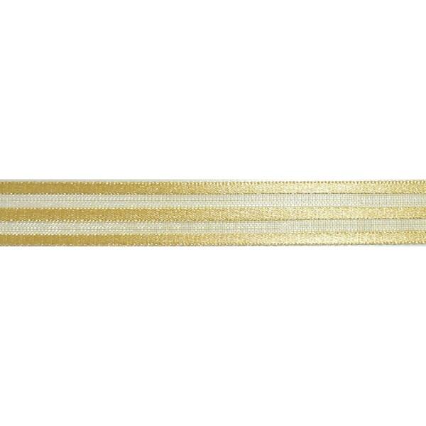 """Ruban Crinoline Ribbon 5/8""""X27 Yards-Gold"""