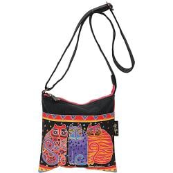 "Crossbody Purse Zipper Top 10""X10"" -Feline Friends"