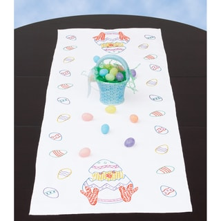 """Stamped Table Runner/Scarf 15""""X42""""-Easter"""