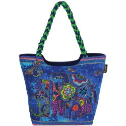 "Scoop Tote Zipper Top 19""X5""X14""-Canine Family"