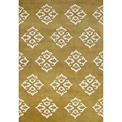 Alliyah Hand Made Tufted Summer Melon Made In New Zealand Blend Wool Rug (8' x 10')