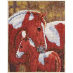 "Heirloom Collection Colors Of Love Counted Cross Stitch Kit-11""X13-3/4"" 28 Count"
