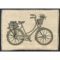 """Handmade Collection Classic Bicycle Stamped Embroidery Kit-11""""X11"""""""