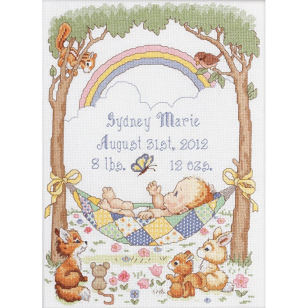 Our Little Blessing Birth Record Counted Cross Stitch Kit-10X13-1/2 14 Count 9218065