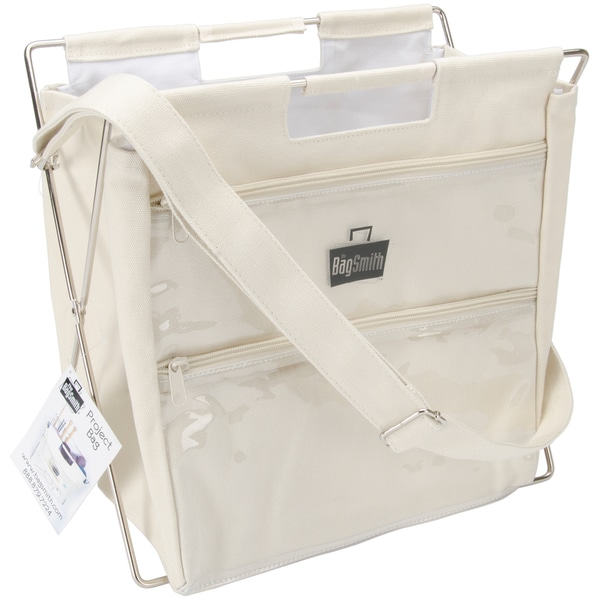 Bagsmith's Famous Canvas Project Bag-12″X12″X9″ Natural