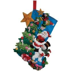 "The Finishing Touch Stocking Felt Applique Kit-18"" Long"
