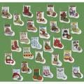 "More Tiny Stockings Ornaments Counted Cross Stitch Kit-2-1/2""X3"" 14 Count Set Of 30"