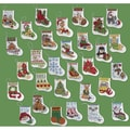 """More Tiny Stockings Ornaments Counted Cross Stitch Kit-2-1/2""""X3"""" 14 Count Set Of 30"""