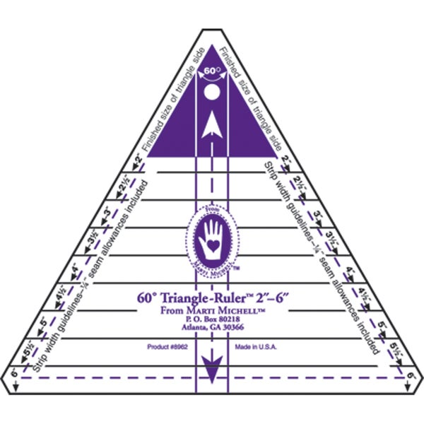 """60 Degree Triangle Ruler-2"""" To 6"""""""