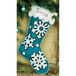 "Flurries Stocking Felt Applique Kit-19"" Long"