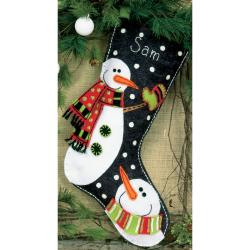 "Snowman Stocking Felt Applique Kit-19"" Long"