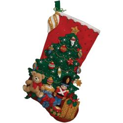 Under The Tree Stocking Felt Applique Kit-18