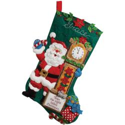 "Twas The Night Stocking Felt Applique Kit-18"" Long"