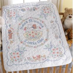 "Sweet Dreams Crib Cover Stamped Cross Stitch Kit-34""X43"""