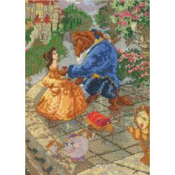 "Disney Dreams Collection By Thomas Kinkade Beauty & Beast-5""X7"" 16 Count"