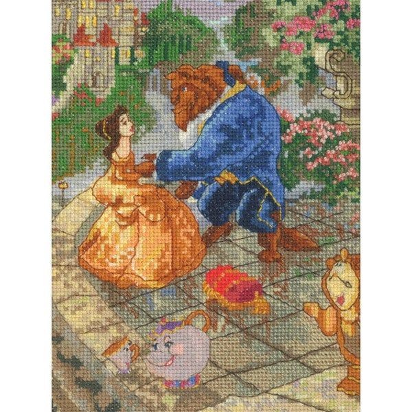 """Disney Dreams Collection By Thomas Kinkade Beauty & Beast-5""""X7"""" 16 Count"""