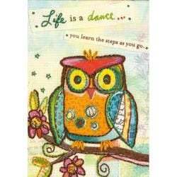 """Handmade Refresh Life Is A Dance Hand Embroidery Kit-5""""x7"""""""