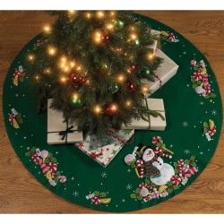 Candy Snowman Tree Skirt Felt Applique Kit-43