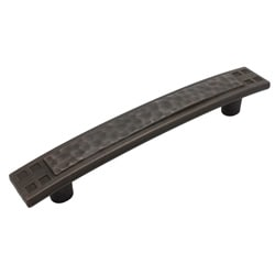 GlideRite 5-inch Oil Rubbed Bronze Hammered Mission Cabinet Pulls (Set of 10)
