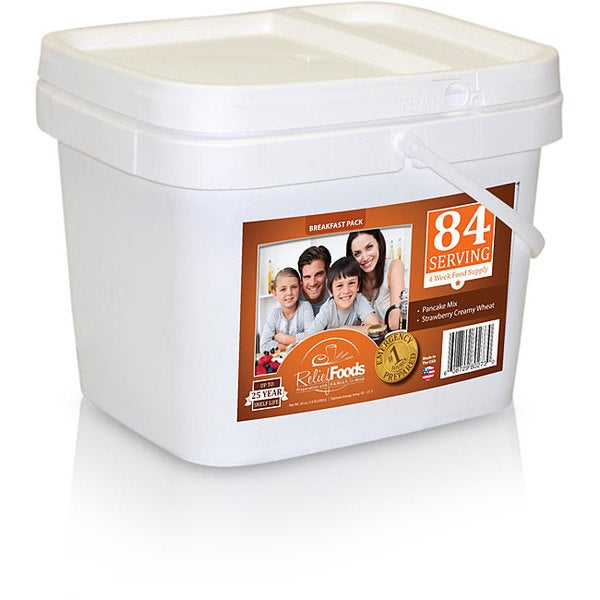 Relief Foods Breakfast Storage Bucket (84 Servings)