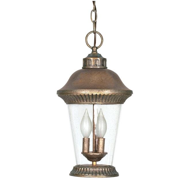 Clarion 3-light Platinum Gold Hanging Lantern