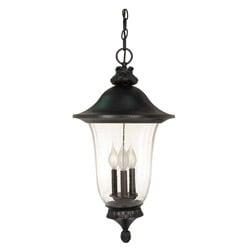 Parisian 3 Light Textured Black Hanging Lantern