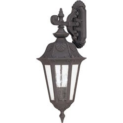 Cortland Arm Down 3-light Satin Iron Ore Wall Sconce
