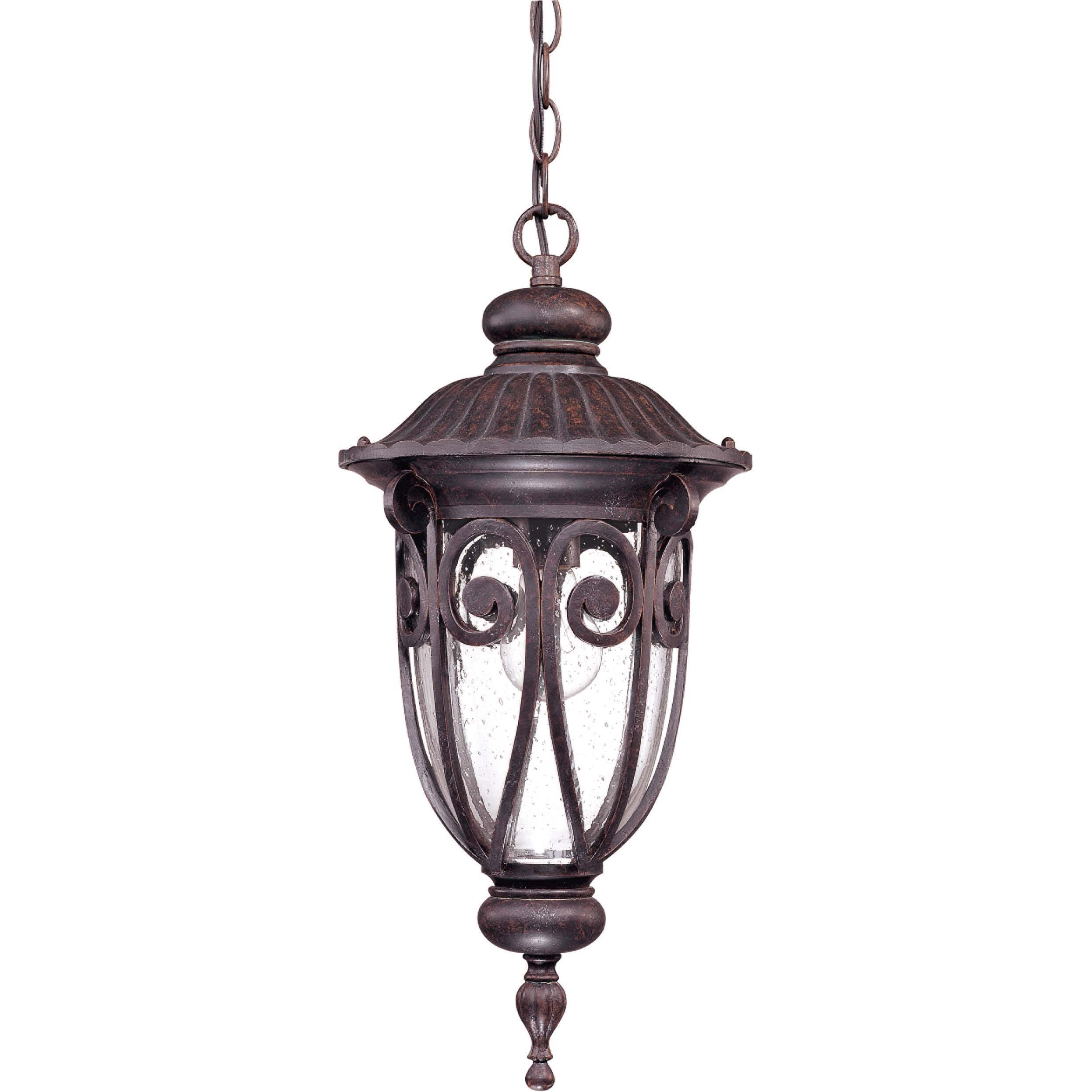 Corniche 1-light Burlwood Hanging Lantern