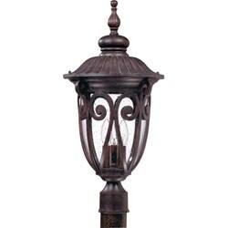 Corniche 3-light Burlwood Post Lantern