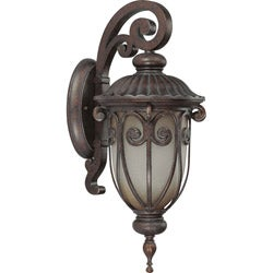Corniche 1 Light Small Arm Down Burlwood Wall Sconce