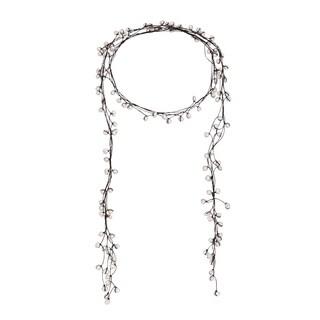 White Allure Freshwater Pearl Wrap Lariat Necklace/ Belt (Thailand)