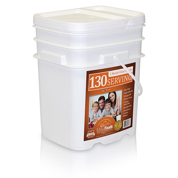 Emergency Foods Storage - 1 Month - Entree and Breakfast Food Storage Bucket (130 Servings)