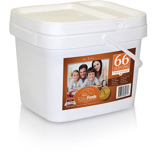 Emergency Food Storage - 2 Weeks - Entree and Breakfast Bucket (66 Servings)